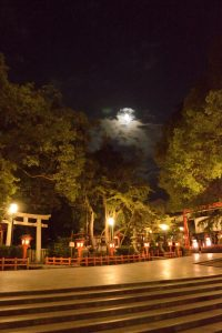 Yasaka shrine at night