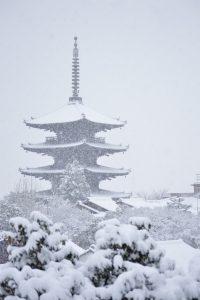 2017 雪の京都 八坂の塔