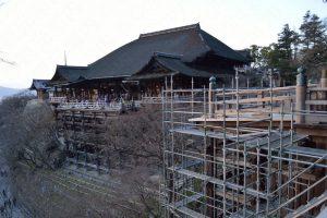 清水寺の工事の様子