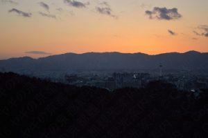 清水寺の夕暮れ
