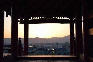 工事前の清水寺・西門