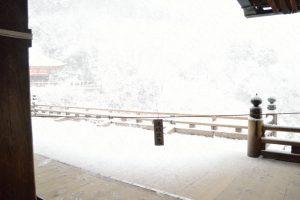 工事前の清水寺・雪景色
