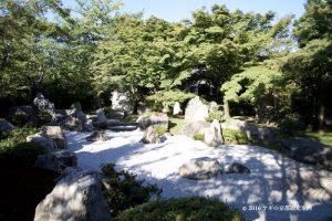 将軍塚の枯山水庭園