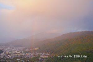 将軍塚から見た虹