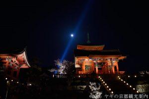 清水寺の桜のライトアップ2018