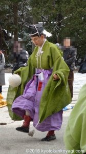 下鴨神社の蹴鞠はじめ