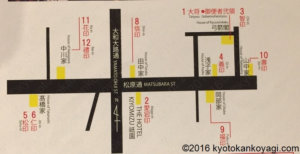 弓矢町武具飾マップ